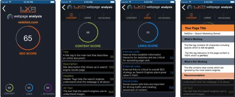 SEO WebPage Analysis app